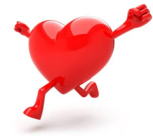 Strong heart graphic