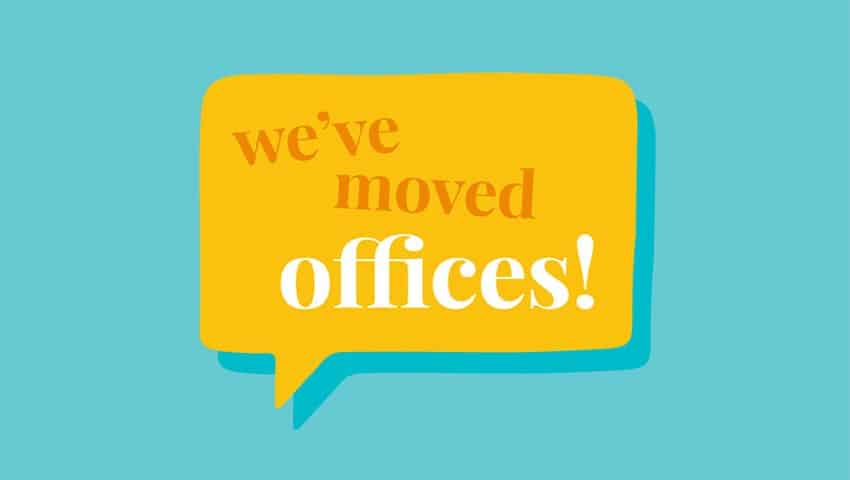 We've moved offices graphic