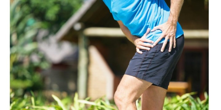 Man with severe hip pain from a torn labrum
