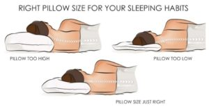Pillow size infographic