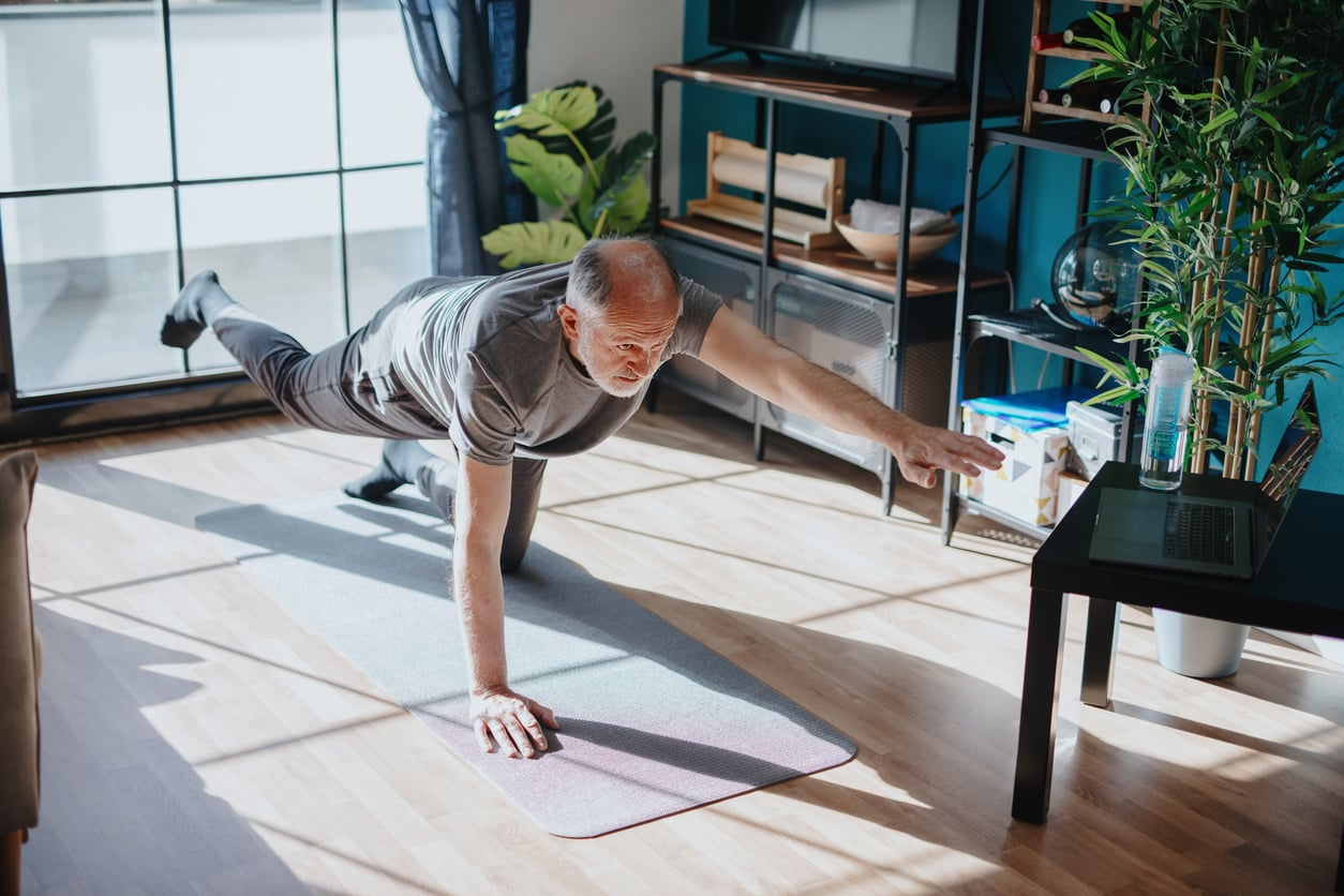 Person doing balance exercise | Cawley Physical Therapy